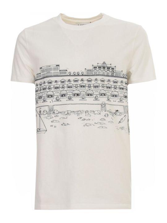 Lanvin Babar Beach Print Ss T-shirt