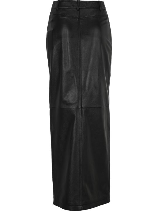 Saint Laurent Studs Detailing Long Skirt