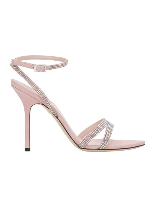 Pollini Sandals With Rhinestones