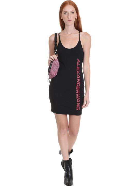 T by Alexander Wang Dress In Black Polyamide