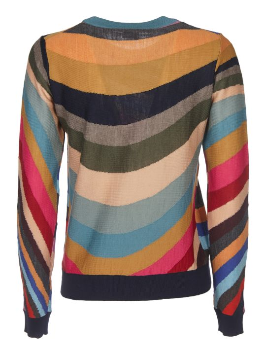 Paul Smith Multicolor Pullover With Swirl Inlay