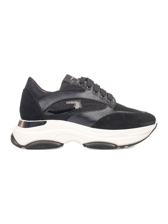 Alberto Guardiani Black Sport Lady Vague Sneakers