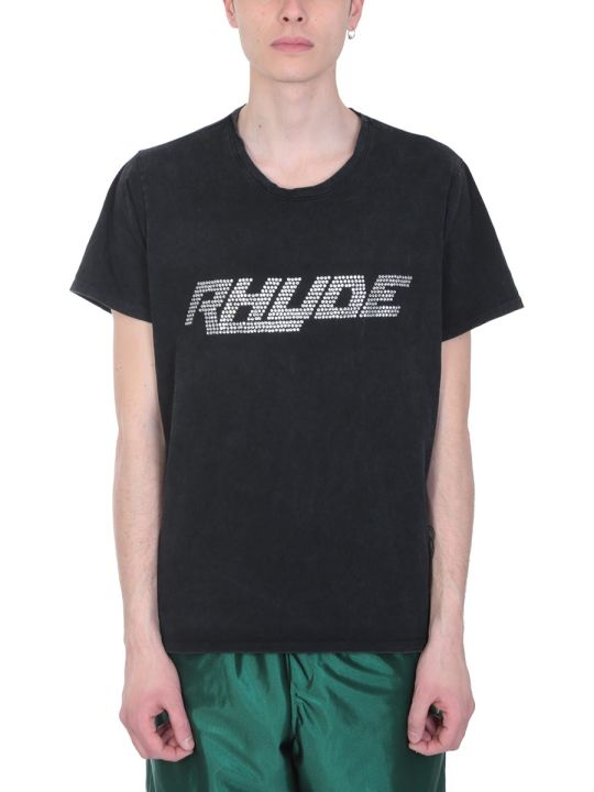 Rhude Black Cotton T-shirt