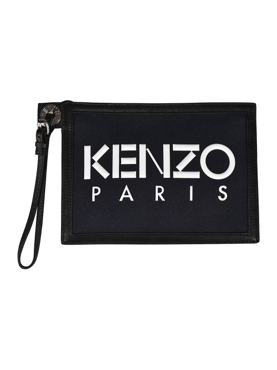 Kenzo Logo Embossed Clutch