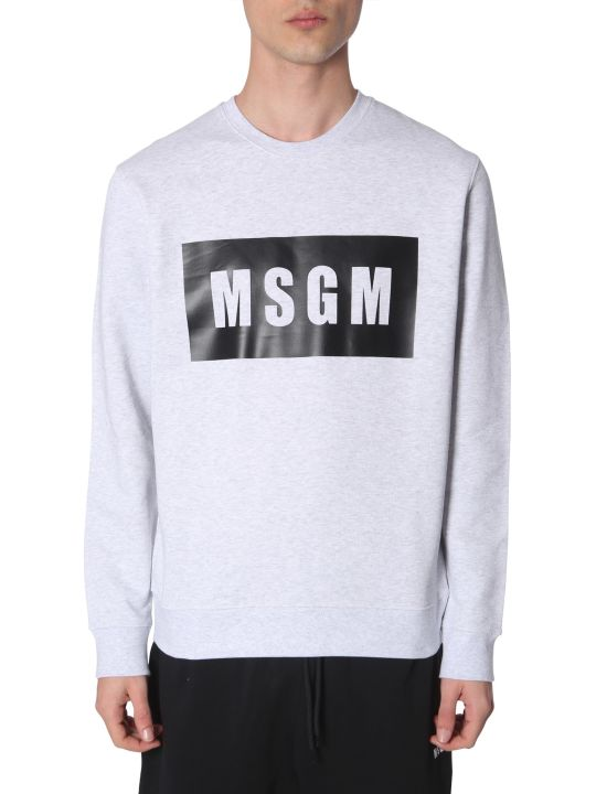 MSGM Sweatshirt With Logo Print Box