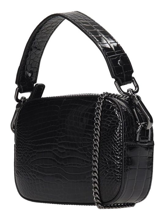 Ash Sibilla Clutch In Black Leather