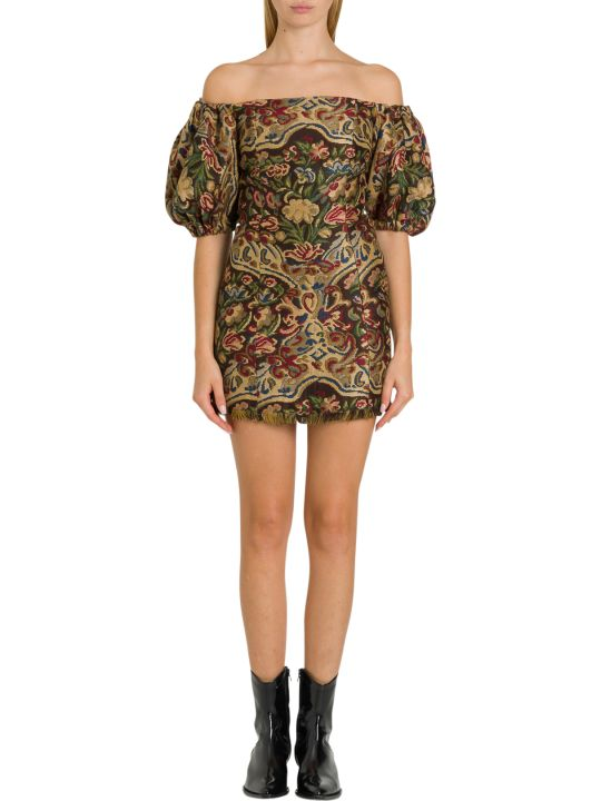 Etro Floral Jacquard Mini Dress