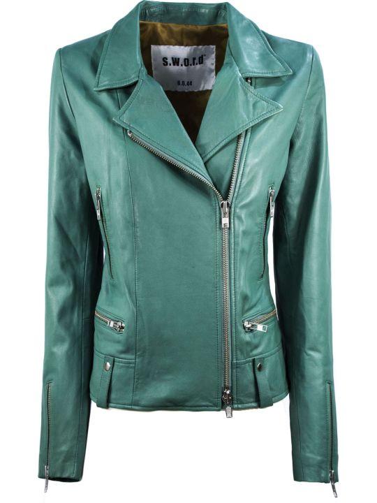 S.W.O.R.D 6.6.44 Green Biker Jacket