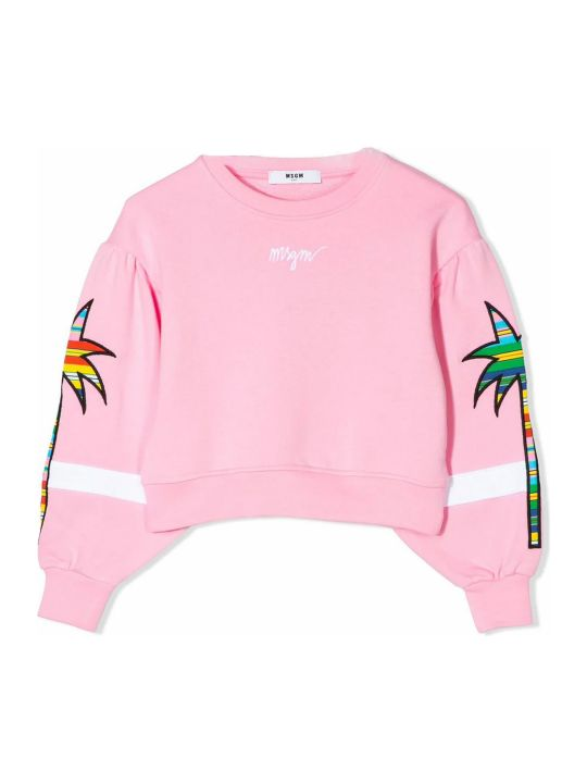 MSGM Pink Cotton Sweatshirt