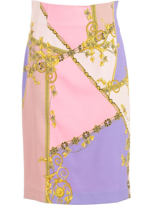 Versace Collection Signature Print Skirt