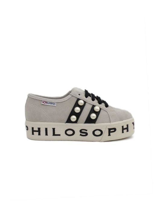Philosophy di Lorenzo Serafini Superga Sneaker By Philosophy In Ivory Suede.