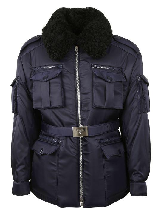 Prada Belted Zipped Jacket