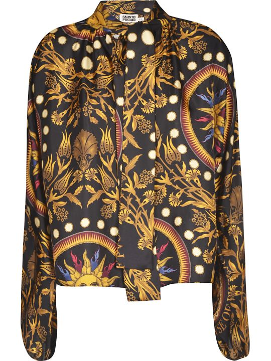 Fausto Puglisi Concealed Printed Dress