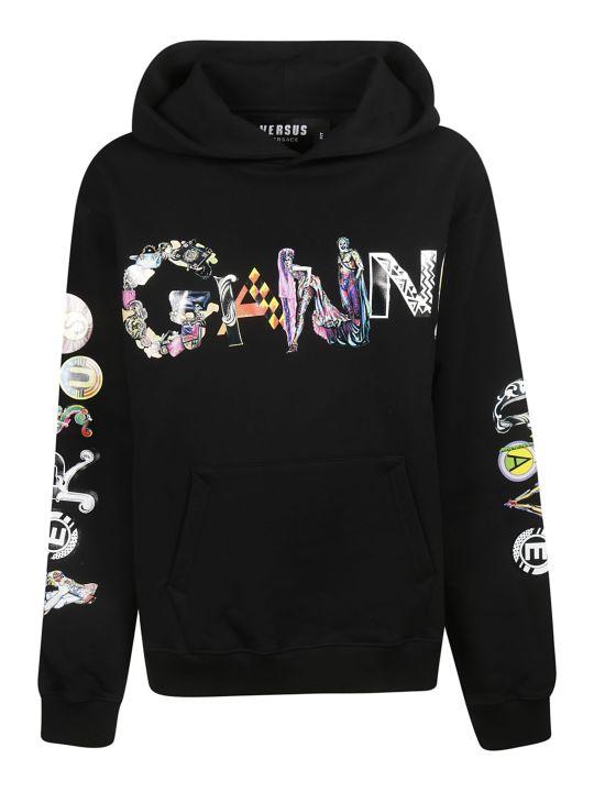 Versus Versace X Ganni Logo Print Hoodie