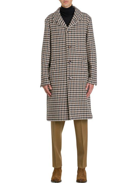 Ami Alexandre Mattiussi Houndstooth Single Breasted Coat