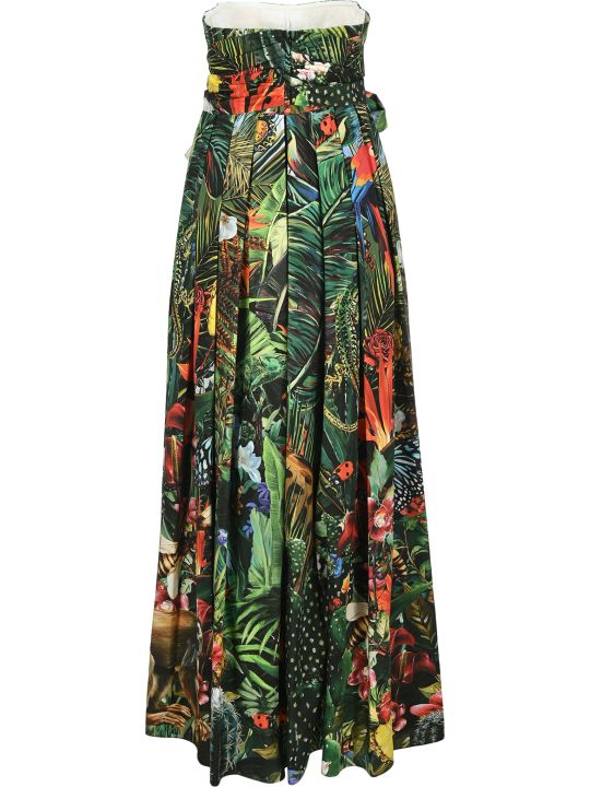 Dolce & Gabbana Dolce&gabbana Jungle Print Long Dress