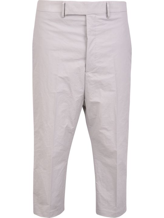 Rick Owens Coated Cotton And Linen Trousers