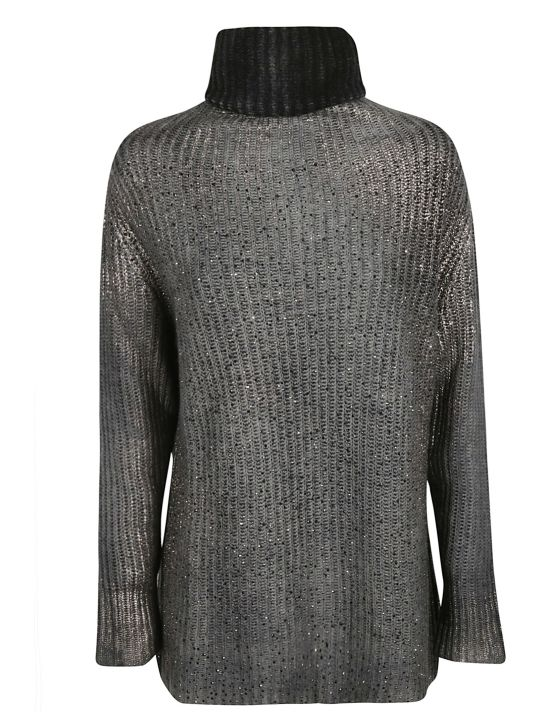 Avant Toi Roll-neck Glittery Jumper
