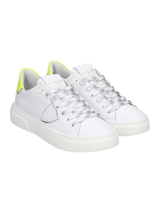 Philippe Model Temple S Sneakers In White Leather