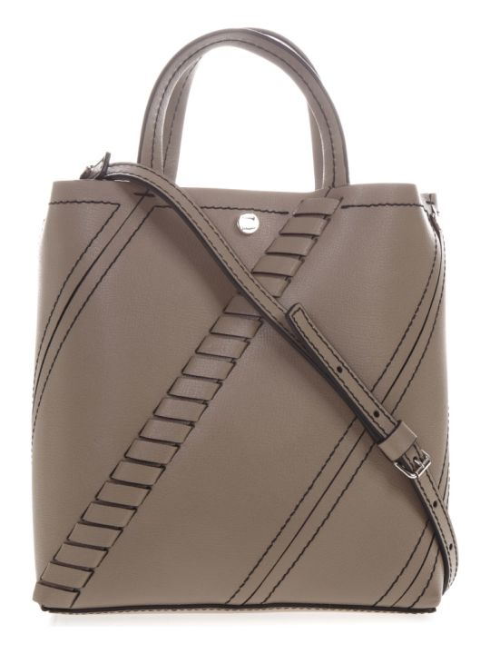 Proenza Schouler Small Hex Taupe Leather Tote Bag
