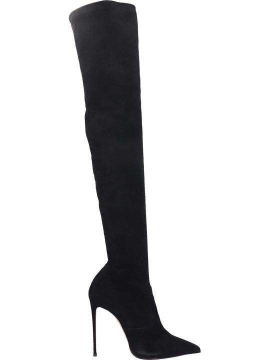 Le Silla Boots In Black Suede