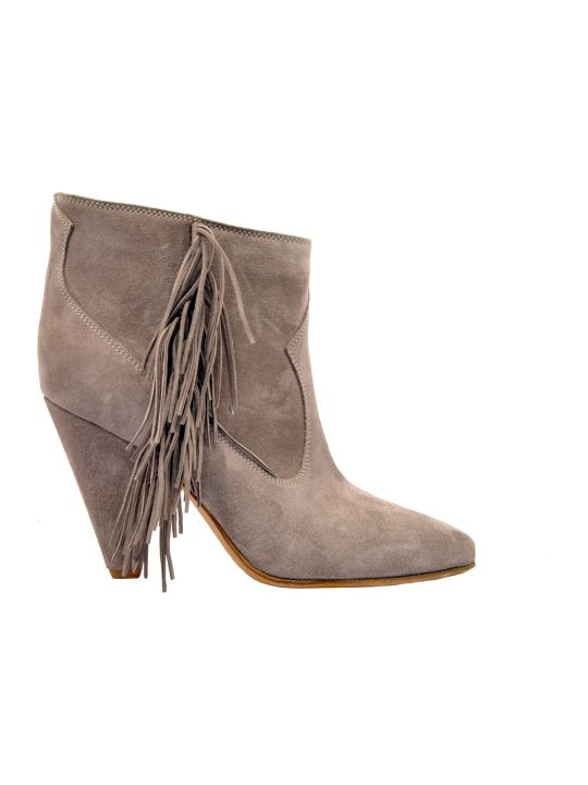 Buttero Fringed Ankle Boots