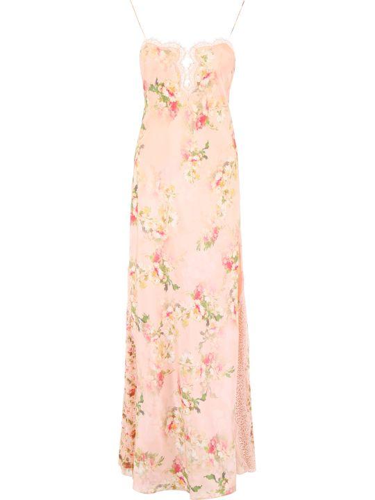 Alberta Ferretti Floral-printed Slip Dress