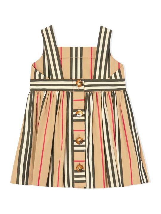 Burberry Beige Cotton Icon Stripe Dress