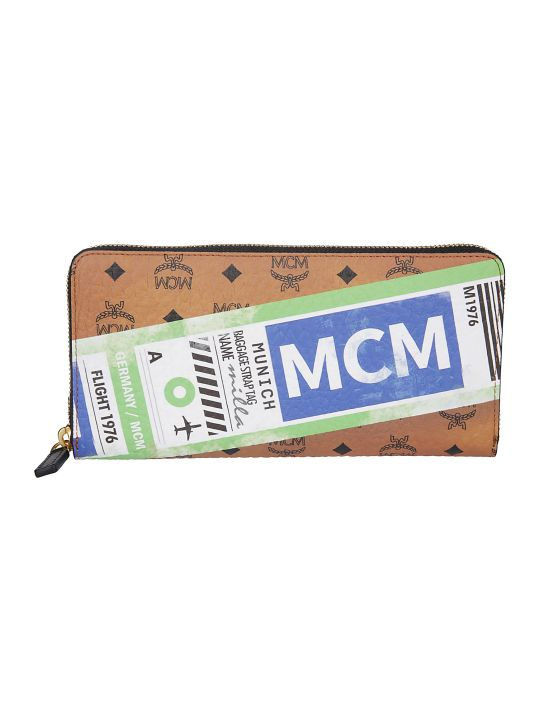 MCM Logo Zip-around Wallet