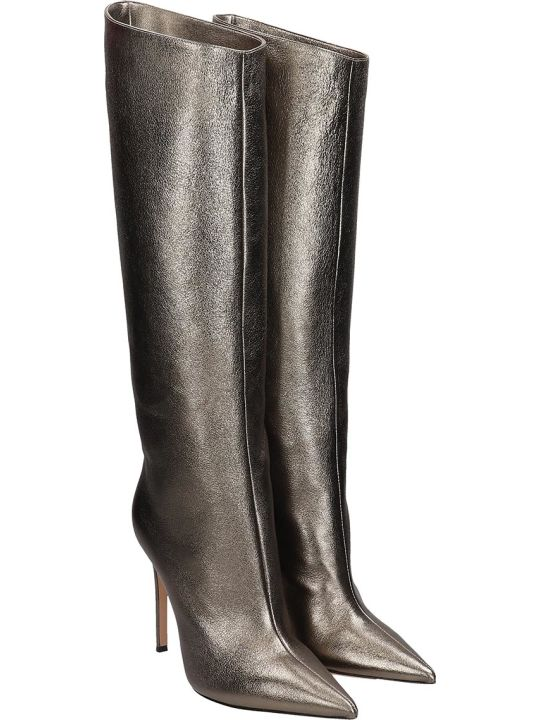 Lerre High Heels Boots In Silver Leather
