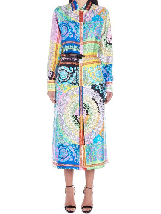 Versace 'technicolor Barocco' Dress