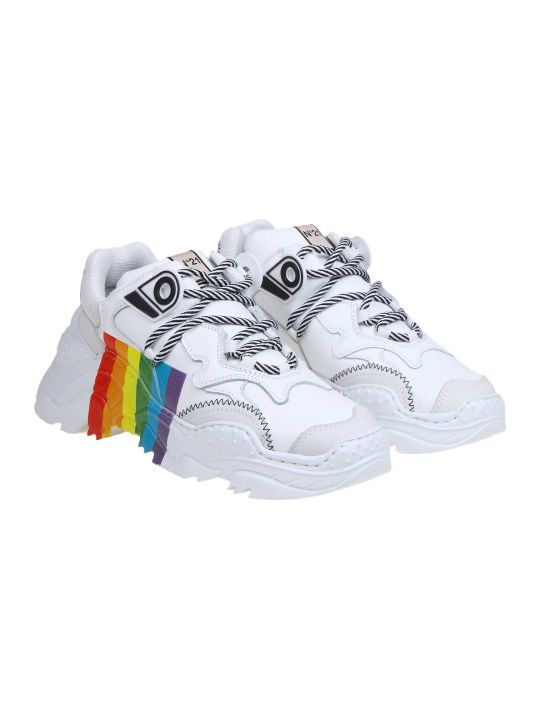 N.21 N ° 21 Sneakers In White Fabric