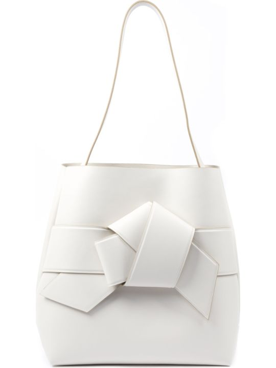 Acne Studios White Musubi Shopping Leather Bag