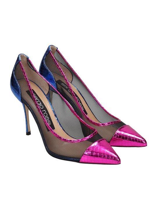 Sergio Rossi Pumps In Multicolor Leather
