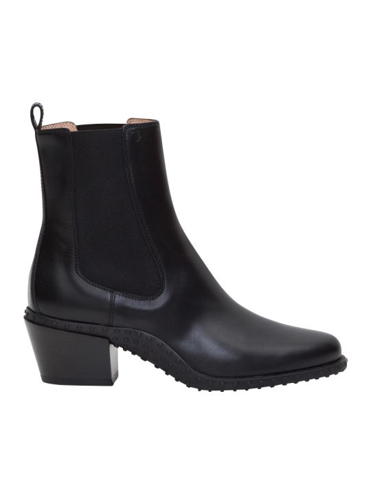 Tod's Western Booties With Gommino Sole