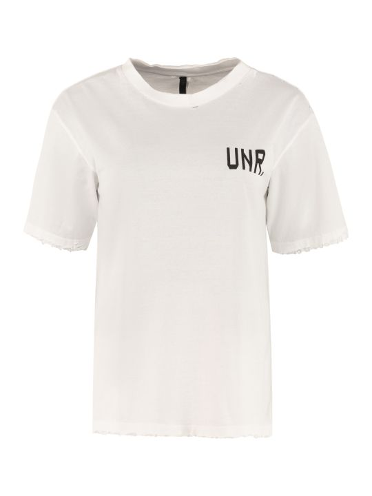 Ben Taverniti Unravel Project Logo Print Cotton T-shirt