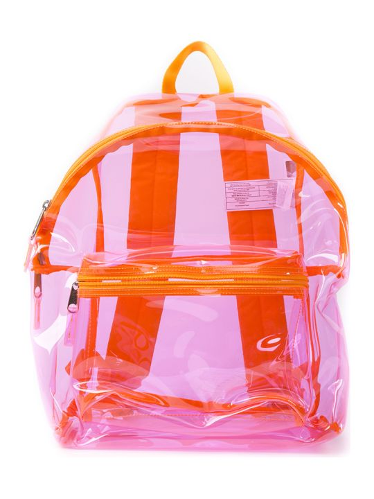 Eastpak Transparent Pink Plastic Backpack