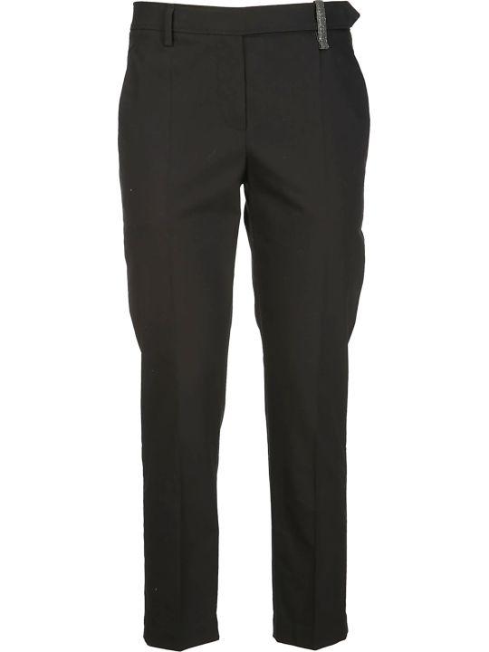 Brunello Cucinelli Black Cotton Trousers