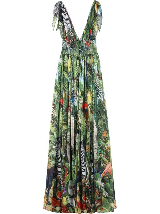 Dolce & Gabbana Printed Georgette Gown