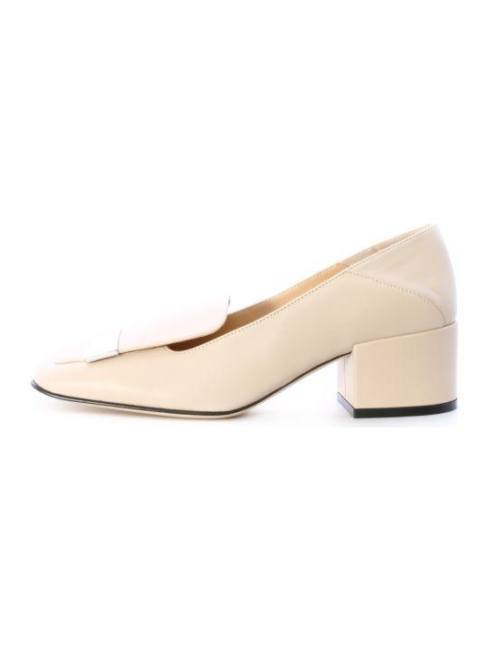 Sergio Rossi Ballerina Sr1 White Leather