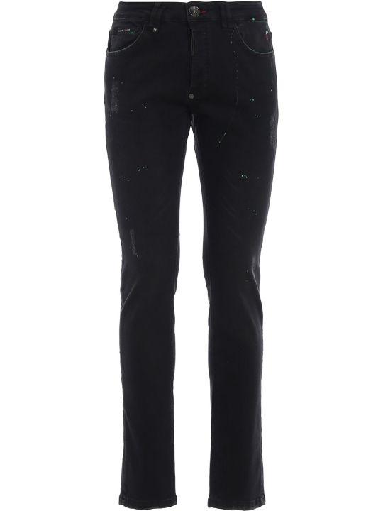 Philipp Plein Paint Splattered Jeans