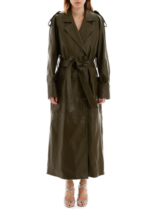 The Attico Leather Trench Coat