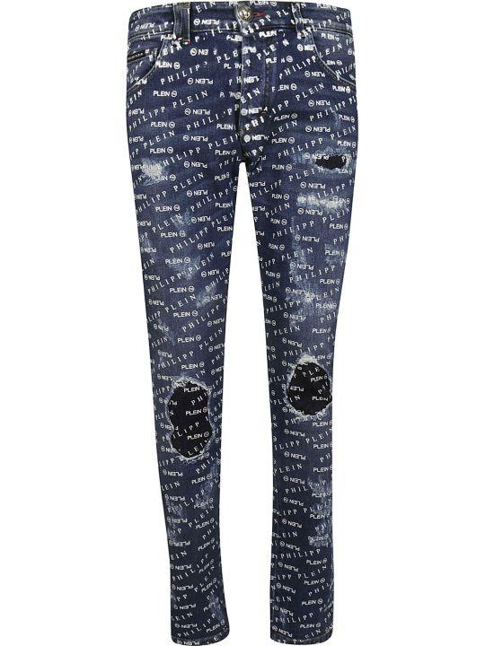 Philipp Plein Logo Print Jeans