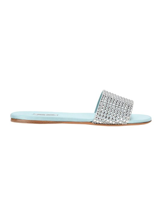 Miu Miu Crystal-embellished Flat Sandals