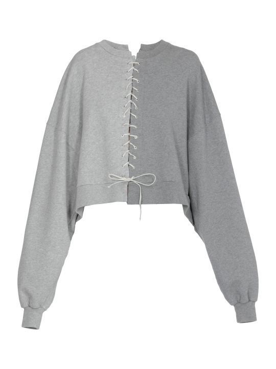 Ben Taverniti Unravel Project Terry Lace Up Sweatshirt