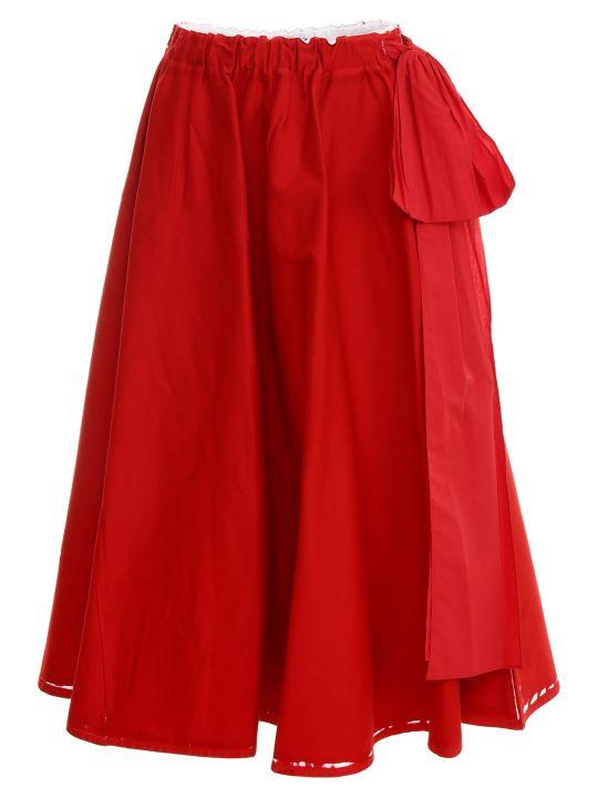 Prada Linea Rossa Overprint Drill Skirt