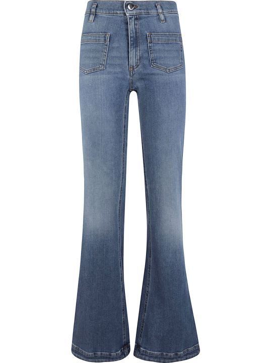 RED Valentino Flared Leg Long Jeans
