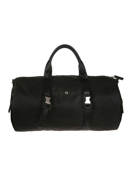 Prada Logo Patched Travel Tote