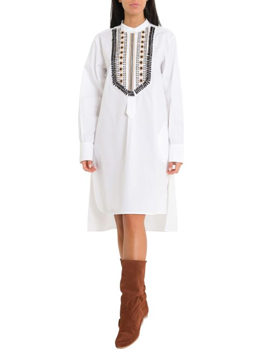 Alberta Ferretti Mandarin Collar Shirt-dress