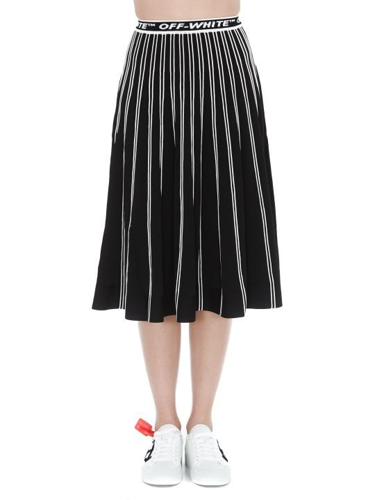 Off-White Knit Plisse' Skirt